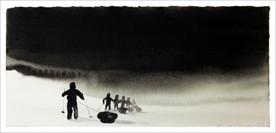 Stille vandring - R.T.Brokstad