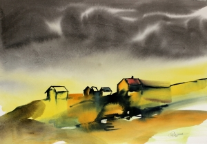 Northern Delight - Watercolour by RT Brokstad, also available as limited edition giclée print