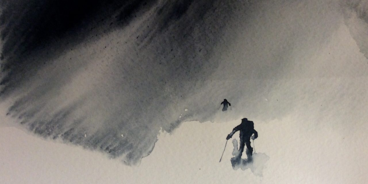 In a Swirl of Blowing Snow – Snyfokk