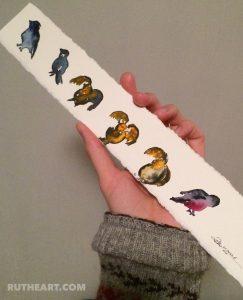 Birds III - Watercolour - RT Brokstad