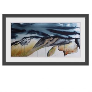 Mountain Heath (Original Watercolour)-Styles > Landscapes, Size > Medium (21-50 cm, eg. A4 and A3), Techniques > Original Watercolours-Rutheart