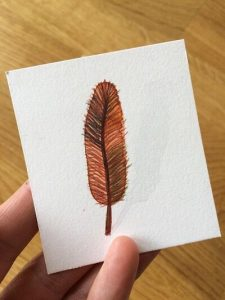 Feather Card #2-Techniques > Cards, Techniques > Cards > Feathers, Size > Small (up to 21 cm, eg. A5)-Rutheart
