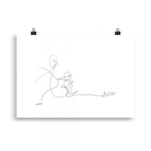 Don't Worry, I'm With You [Entwined collection: 4/5] - 3 sizes-Poster/Open Edition Print,-Rutheart
